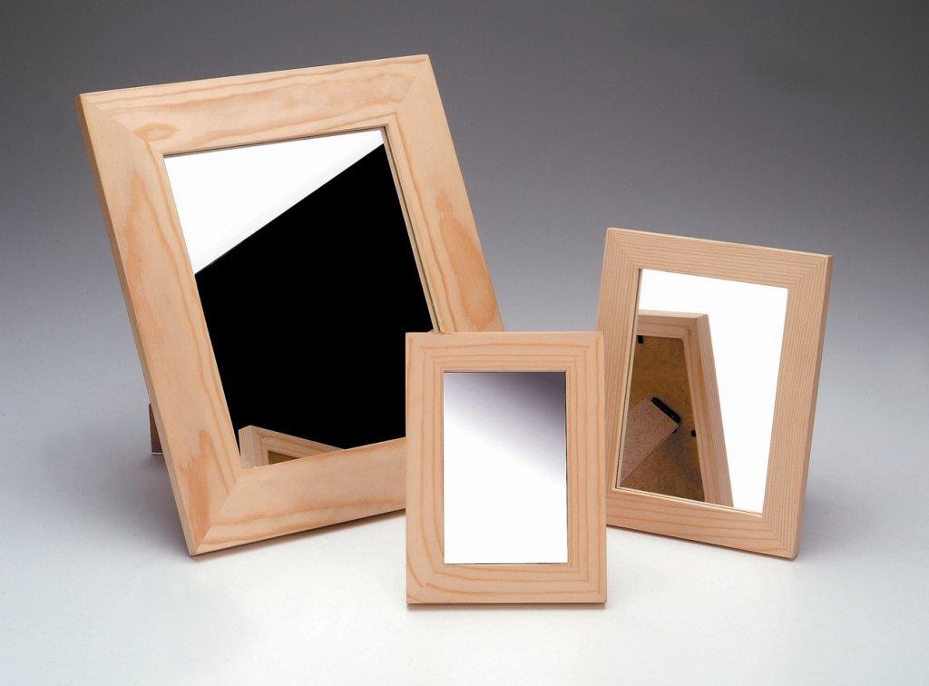 Glorex Mirror Wood Frame and Glass, FSC, Wood, natural, 16.5 x 21.5 x 1 cm 16.5x 21.5x 1cm GLOREX GmbH 6 1683 201