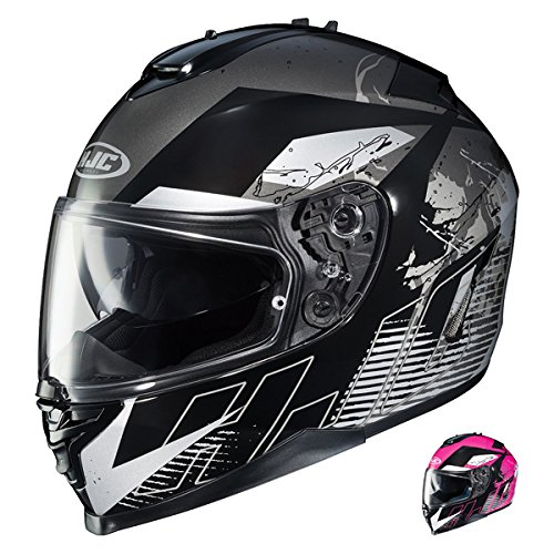 HJC IS-17 Blur Full Face Street Motorcycle Helmet (MC-5 Black, - Helmet Mc5 Full Face