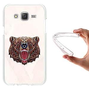 WoowCase - Funda Gel Flexible { Samsung Galaxy J5 } Ethnic Oso Carcasa Case Silicona TPU Suave