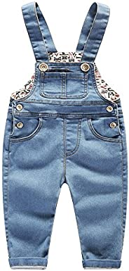 Kidscool Baby & Little Boys/Girls Stone Washed Big Bib Jeans Over