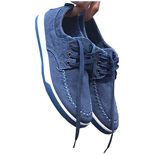 Partiss Mens Toile Casual Chaussures Bleu