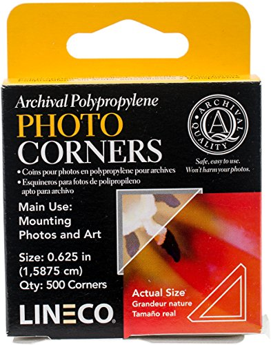 ival Clear Photo Corners pack of 500 ()