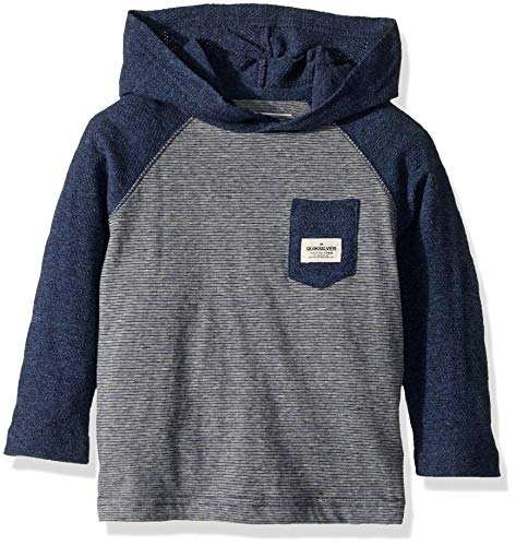Quiksilver Little' Michi Hood BOY Knit Crew, Medieval Blue Heather, 6 ()