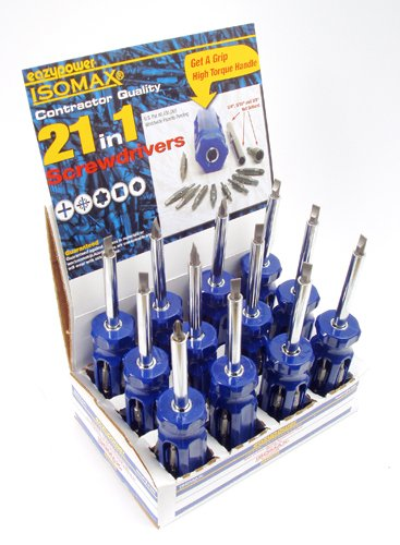 Eazypower 88063 21 in 1 Patented Big Man Handle Screwdriver, Pack of 12