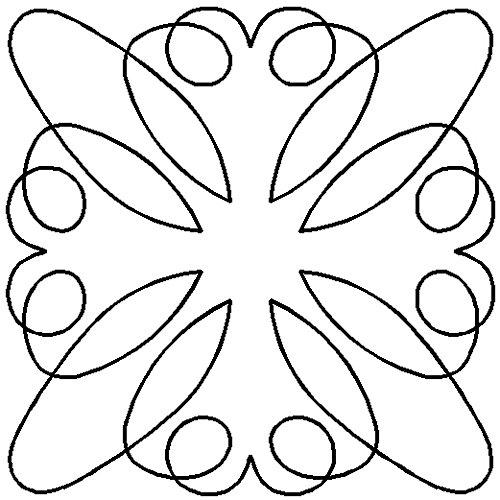 (Quilting Creations Retro Block 1 Continuous Line Quilting Stencil,)