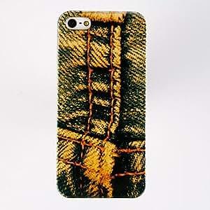 TY-Diseño Jeans Especiales Patrón Porlycarbonate Duros Fundas para iPhone 5/5S