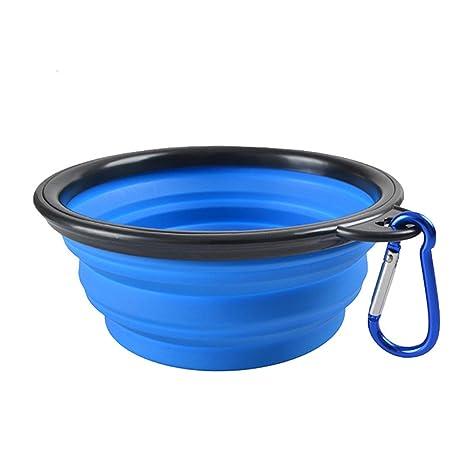 TONVER Cuenco plegable de silicona para perro, alimentador de agua y comida para mascotas