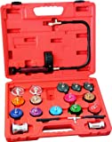 21pc Radiator Pump Pressure Leak Tester Checker Kit Aluminum Adapters w/ Case