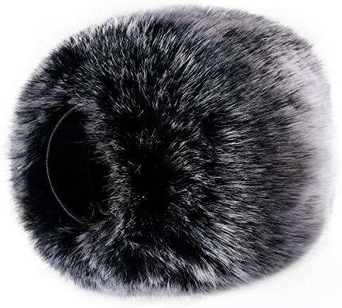 Pare-brise Universel pour Microphone Pare-brise Pare-brise WIND Muff Fourrure Douce Coupe-vent pour Pare-brise Couvre Microphones en Mousse pour Micro BOYA BY-MM1