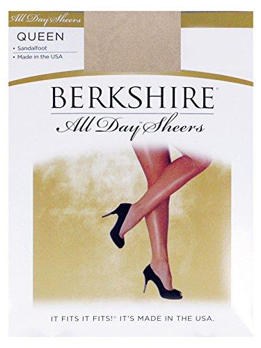 Berkshire Queen All Day Sheer Non-Control Top Pantyhose - Sandalfoot, Linen, 5X-6X