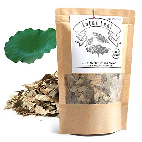 100% Natural Weight Loss Lotus Leaf Tea,Dried Lotus Leaf,Caffeine-Free Loose Leaf Tea (Heye/荷葉/연잎)Chinese Herba Natural Dried Loose Leaves 3 oz (88g)