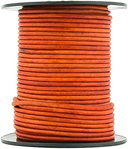 10 Yard Natural Antique Gray, 10 Meter Xsotica-Dye Round Leather Cords -1.5mm Leather Cord