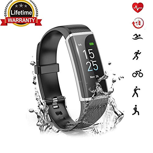 2019 Updated Fitness Tracker, Activity Tracker Watch with Heart Rate Monitor,Color Screen Smart Watch with Sleep Monitor,Step Counter, Calorie Counter,Waterproof Pedometer Watch for Kids Women Men