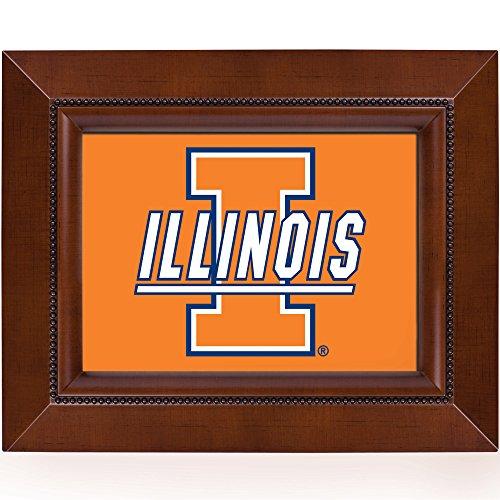 - Woodgrain Frame NCAA Collegiate Team 8 x 10 Musical Table Photo Plaque: University of Illinois Logo