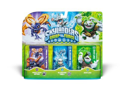 Skylanders SWAP Force Triple Character Pack: Mega Ram Spyro, Blizzard Chill, Zoo Lou