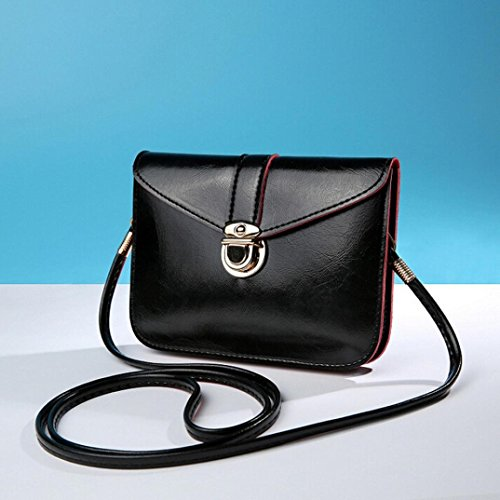 Outsta Fashion Messenger Purse Bag,Leather Handbag Single Shoulder Phone Bag Coin Bag Travel Backpack Classic Basic Casual Daypack (B) by Outsta (Image #1)