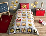 Emoji Bed Set Single The Emoji's Kid's Duvet/Quilt Cover Set Single / Twin Size Kids Bedding