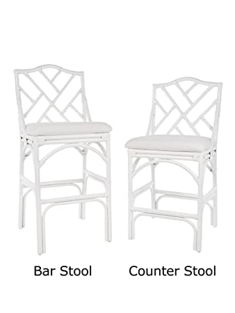 Awesome Amazon Com Kouboo 1110089 Chippendale Rattan Barstool Theyellowbook Wood Chair Design Ideas Theyellowbookinfo