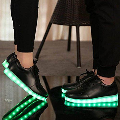 Geschenk LED Damen kleines Unisex Flat Sneaker Herren Lade Schwarz JUNGLEST® Universal Schuhe Casual Luminous USB Handtuch rrR8wT