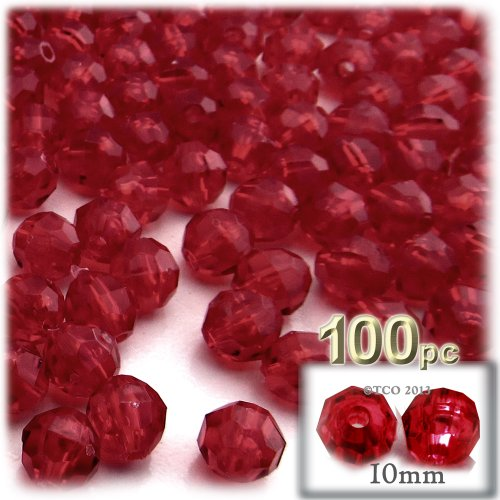 Transparent Faceted Beads - 6
