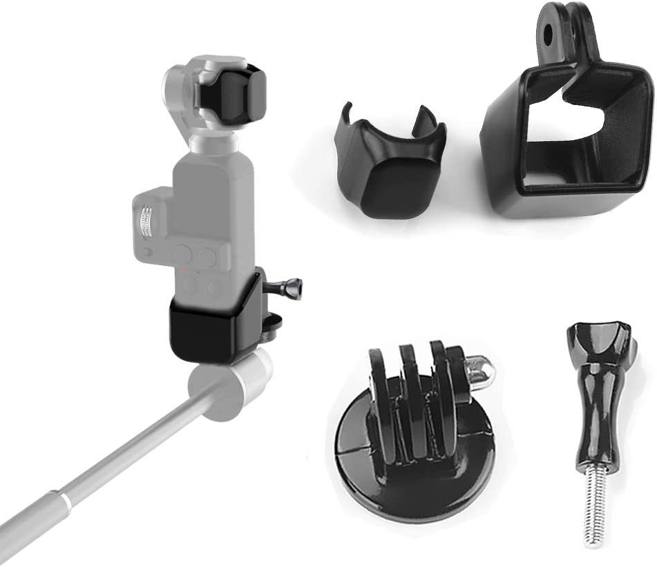 Yifant 3 in 1 Expansion Kit for DJI OSMO Pocket Camera Accessories Includes Support Holder and Lens Cap and 1//4 Thread Adapter