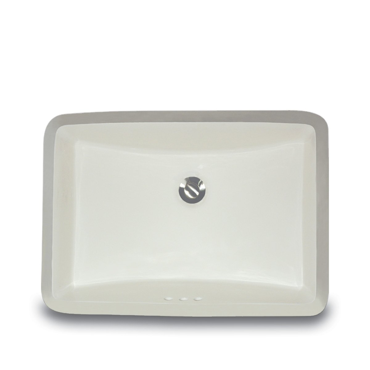Vitreous China Rectangular Undercounter Bathroom Sink Sink Finish: Biscuit