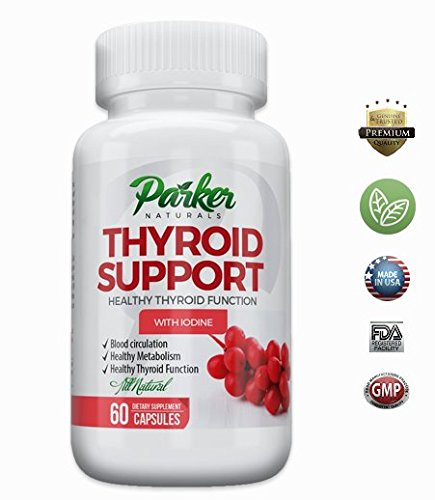 Thyroid Support Supplement & Energy Vitamins by Parker Naturals: Thyroid Complex & Metabolism Booster with Iodine & B12
