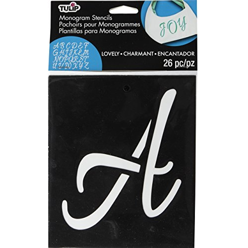 Tulip 33714 Contemporary Monogram Fabric Stencils