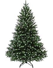BB Sport Kerstboom Luxe 120 cm donkergroen - poedersuiker Kunstkerstboom PE/PVC Mix Kunstmatige Dennenboom