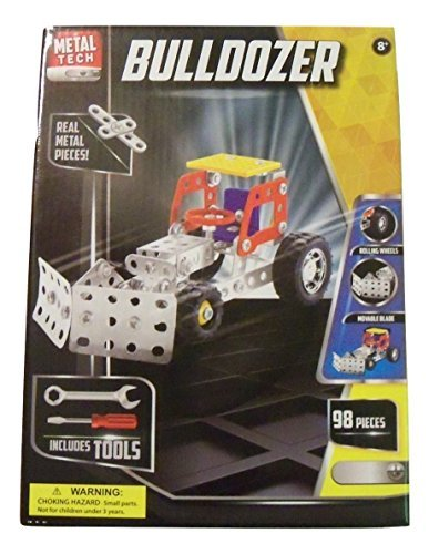 (Metal Tech Build Your Own Vehicle Set ~ Construction Vehicle (Bulldozer; 98 Pieces; Ages 8+))
