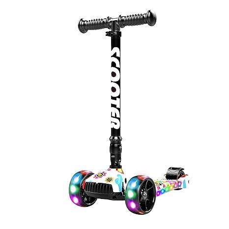Patinetes Skateboard para niños Scooter 1-2-3-6 años Flash ...