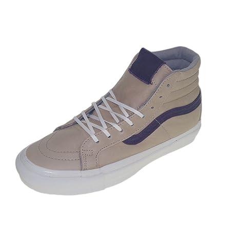 Vans OG SK 8 Hi LX - Zapatillas de Piel para hombre Beige Aluminium mulberry,