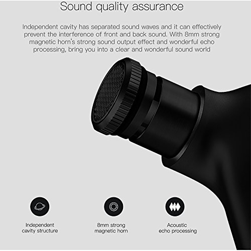 Padear Mini Invisible Bluetooth Earbud,V4.1 Stereo Wireless Bluetooth Earphone with Built-in Mic, Sports Noise Cancelling In-ear Earphone For Iphone Samsung And Other Android Phones (black) by padear (Image #7)