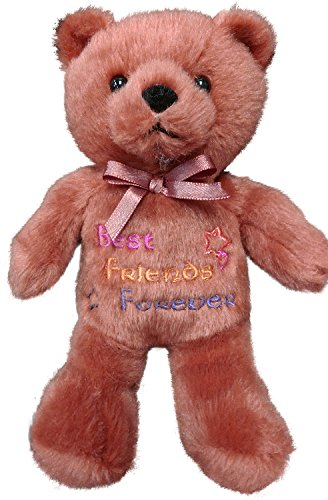 (Anico Plush Toy, Occasional Stuffed Animal Bear, Best Friends Forever, Brown )