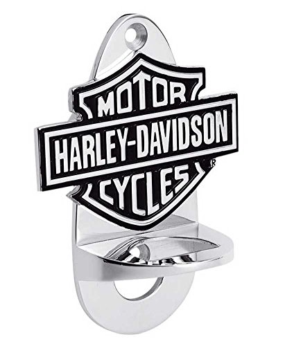 Harley-Davidson Wall Mount Chrome Bottle Opener, Bar Barware. 99333-08V by Harley-Davidson