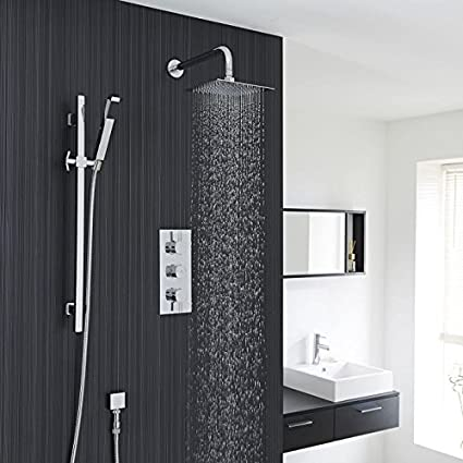 Ordinaire Hudson Reed New Complete Thermostatic Shower System 2 Outlets   Triple  Diverter Valve Set With Square