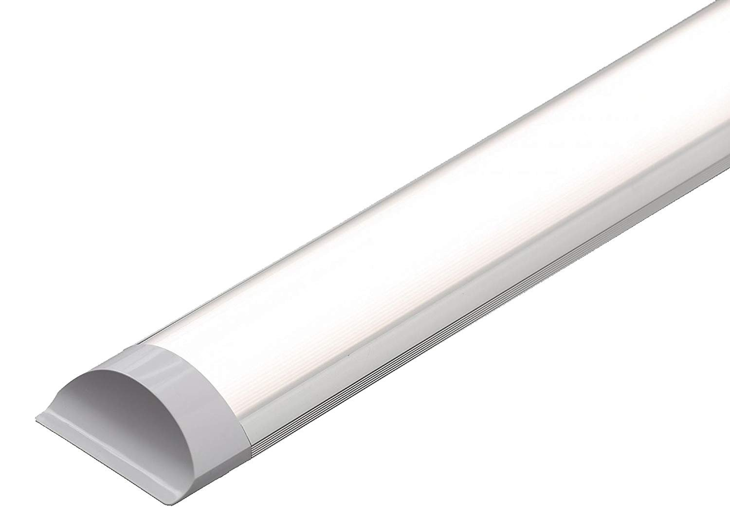 Elite Line 36W LED Batten Ceiling Lights 4FT Thin Tube Ceiling Light with IP66 Cold White 6500K 3200LM Slim Tri-proof Ceiling Lights for Garage, Underground Storage, Workshop, Shed, Bathroom, Commercial Indoor or Outdoor Application [Energy Class A] + 2 Y