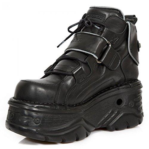 New Rock Boots M.1077-s5 Gotico Hardrock Punk Unisex Stiefelette Schwarz