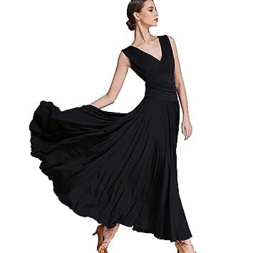 c2e55898000 Robes de Pratique de Danse de Salon Standard pour Les Femmes Performance  Dancing Costumes Jupe Expansion