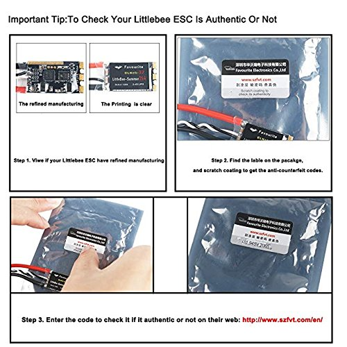 Support Proshot1000 , 50A Blheli 32 2-6S Lipo Support Proshot1000 Dshot 1200 Electronic Speed Controller(Current Limit and New Telemetry Function Original LittleBee 50A Blheli/_32 ESC for FPV Racing Crazepony