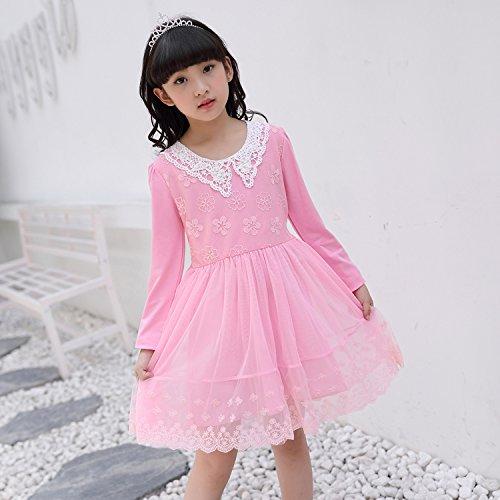 XIU*RONG Una Niña Vestidos Y Vestidos De Algodón pink