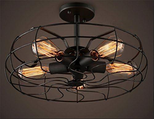 Ventilador de techo eléctrico,5-luz Led Plafón,Industrial Retro Lámpara de techo,Creatividad Sala de estar Dormitorio Comedor Lámpara de balcón Para e27-A: Amazon.es: Iluminación