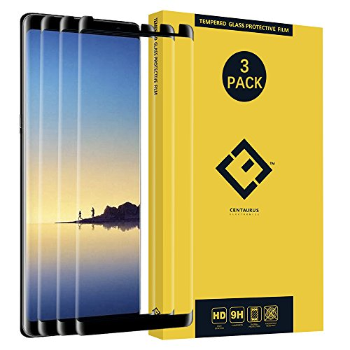 (3-Pack) Compatible with Galaxy Note 8 Screen Protector, [Case Friendly] [Ultra-Thin] [Anti-Scratch] 0.3mm Tempered Glass Protective Film fit Samsung Galaxy Note 8 N950 N950U N950W N950F N9500 N9508