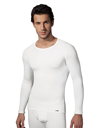 e08063df01 Doreanse Men's 2960 Thermal Long Sleeved Shirt (Ecru/S). Roll over image to  zoom in