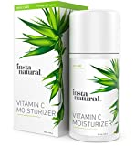InstaNatural Vitamin C Moisturiser Cream for Face, Skin & Body - With 20% Vitamin C, Hyaluronic Acid, Niacinamide & Organic Jojoba Oil - Anti Aging Lotion - For Wrinkles, Fine Lines & Spots - 3.4 OZ