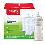 Playtex Baby Nurser Baby Bottles with Disposable Drop-Ins Bottle Liners, 8 Ounce, Pack of 3 Baby Bottles