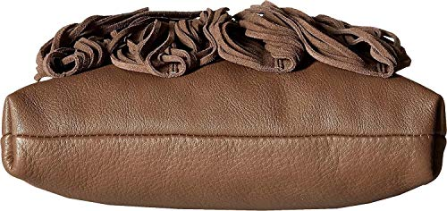 Edelman Womens Crossbody Medium Leather Handbag Taupe Jane Fringe Sam OdwS5xdT