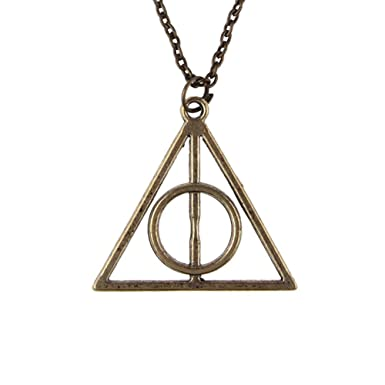 Harry Potter The Deathly Hallows Logo Pendant Necklace Symbol