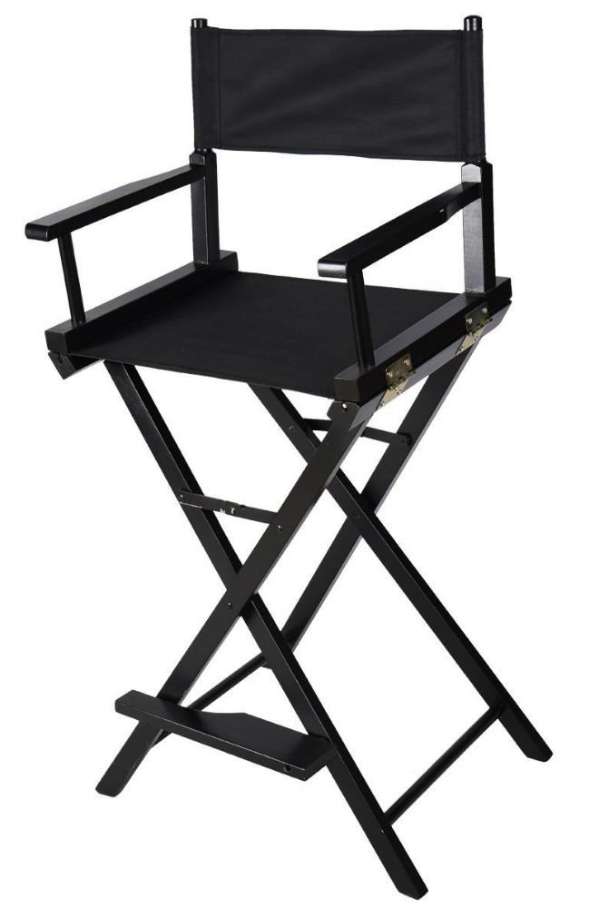 Professional Makeup Artist Directors Chair Wood Light Weight Foldable Black New by Unknown (Image #1)