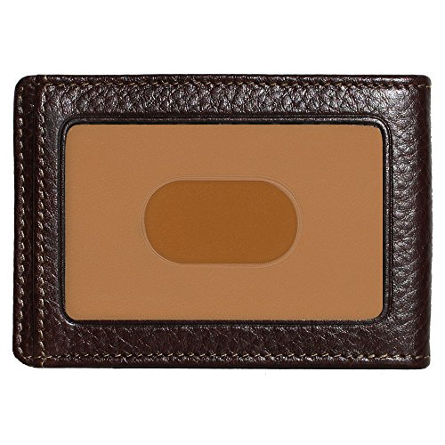 (Boconi Tyler Tumbled RS RFID Two Fold Money Clip (Coffee w/terra cotta))